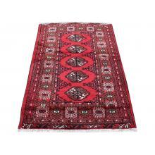 97 X 137 Turkman Designed Persian Traditional Wool Rug