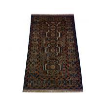 84 x 135 Dark Afghan Oriental All Wool Handmade Rug