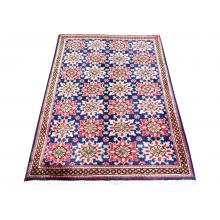 95 X 156 Handmade Wool Persian Traditional Star flower Designed Rug