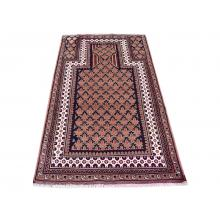 91 X 152 Simple and Elegant Persian Traditional Antique Turkman Rug