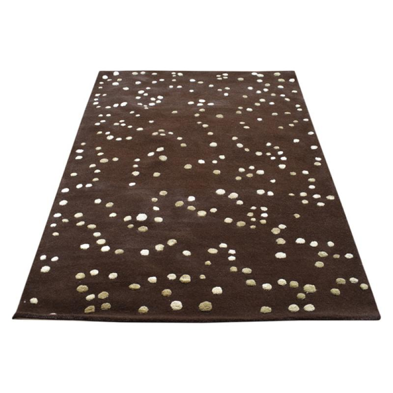 152 X 244 Brown Polka Dot Design Modern Rug