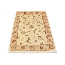 149 X 201 Simple and Elegant Cream Oriental Traditional Wool Silk Rug