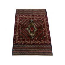 86 x 130 Classic Diamond Tribal  Wool and Silk Oriental Rug