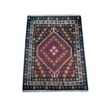79 x 104 Elegant Oriental Tribal Orange Afghan Wool Rug