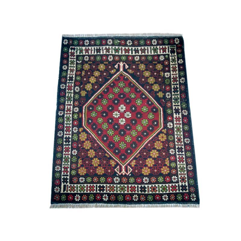 Oriental Tribal Orange Afghan Wool Rug