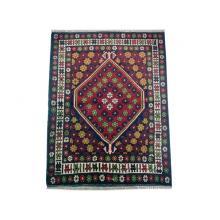 91 x 104 Beautiful Oriental Tribal Orange Afghan Wool Rug