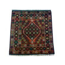 81 x 91 Unique Oriental Tribal Orange Afghan Wool Rug