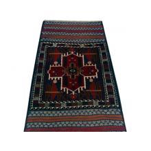 86 x 160 Bold and Dark Oriental Afghan Heriz Wool Rug