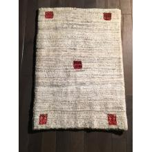 Persian Gabbeh Cream Spotted patterned Rug