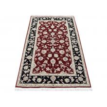 91 X 152  Gorgeous Red & Black Oriental, Traditional Wool Silk Rug