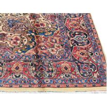 290 X 386 Perfect Center Medallion Design Handmade, Persian Traditional Wool Rug
