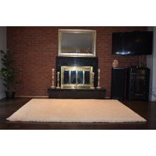 152 X 244 Strikingly Beautiful Super Shag Cream Modern Rug