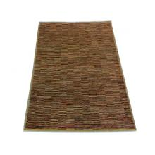 122 x 178 Classic Gold Chobi Oriental Vegetable Dye Stripe Rug