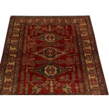 122 x 173 Three Medallion Design Oriental Handmade Wool Rug