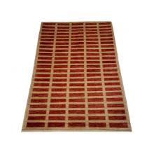117 x 178 Rust Red Stripe Wool Rug