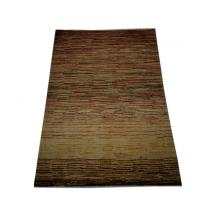 122 x 152 Chobi Vegetable Dye Stripe Patterned Rug