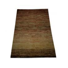122 x 152 Chobi Vegetable Dye Stripe Patterned Rug