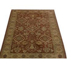 122 x 183 Simple & Elegant Brown Oriental Zeglar Handmade Rug