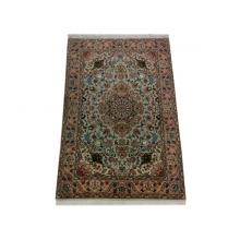 102 x 150 Strikingly Beautiful Hand Knotted Wool-Silk Medallion Shirfar Rug