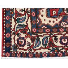 132 X 195 Fine Persian Antique Center Medallion Handmade Wool Rug
