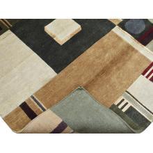122 X 183  Geometric Modern Oriental Handmade Wool & Silk Rug