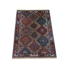 130 x 152 Bold and Beautiful Diamond Design Yallameh Persian Wool Rug
