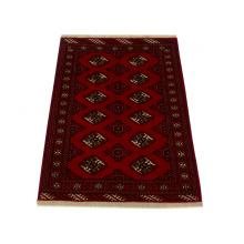 104 x 152 Graceful Turkman Elephant's Feet Design Handmade Rug
