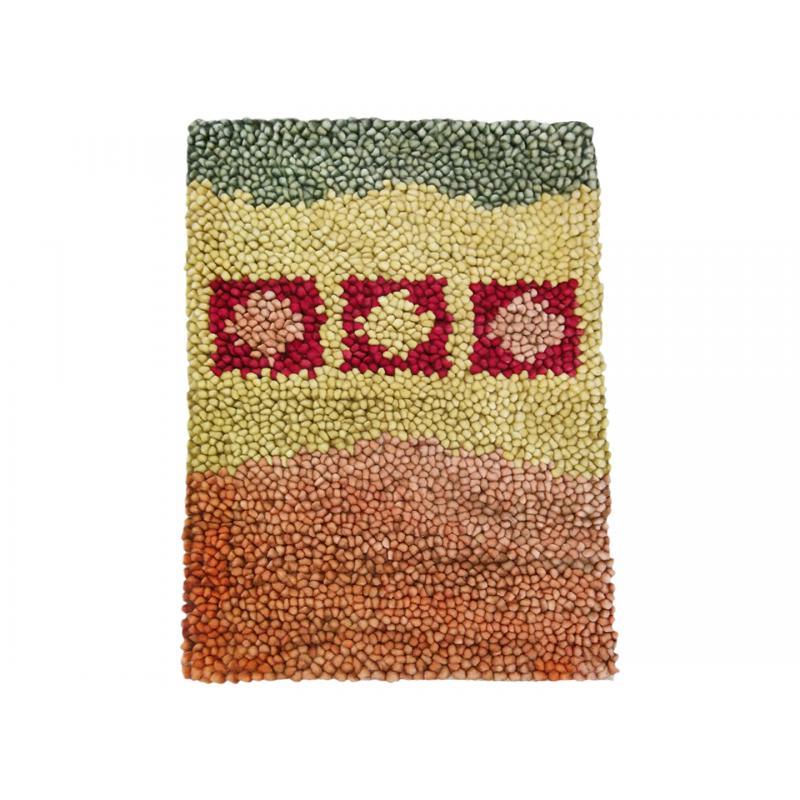 Multi Colour Pure Wool Rug