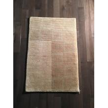 Plain Ivory brown Wool Rug