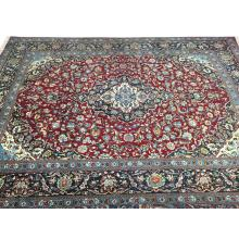 290 x 401 Beautiful Blue, Red Kashan Persian Rug.