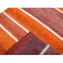 122 X 183 Gorgeous Orange Cream Red Modern,Oriental Handmade Wool Rug