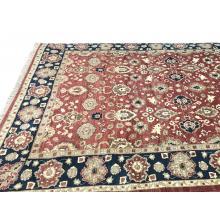 315 x 384 Blue & Red Choobi Vegetable Dye Oriental Wool Rug