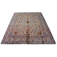 305 x 381 Perfect Handmade Center Medallion Design Persian, Traditional Wool Rug