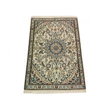 86 x 130 Royal Timeless Medallion Handmade Wool-Silk Rug
