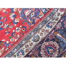 287 x 384 Wool, Handmade Traditional Persian, Center Medallion Design Red, Blue, Brown, Cream, Green Rug