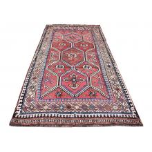 146 X 302 Graceful Antique, Persian Qashqai Tribal Design Handmade Rug