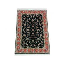 107 x 145 Tabriz Allover Patterned Wool & Silk Handmade Rug