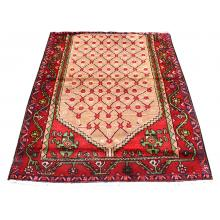 109 X 149 Elegantly Traditional, Persian Turkman Mehrabi Design Wool Rug