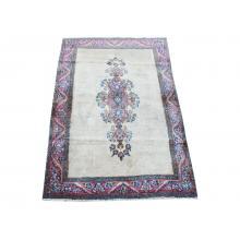 87 X 148 Royal Traditional, Persian, Antique Kerman Handmade Wool Rug