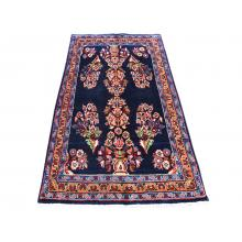 87 X 152 Elegant Traditional, Persian Multi Flower Vase Design Handmade Wool Rug