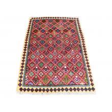 95 X 146 Unique Persian Tribal Design Handmade Wool Rug