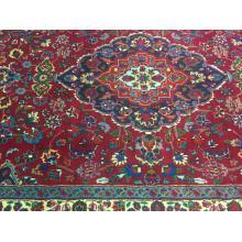 183 x 274 Elegant Wool Mashhad Persian Rug