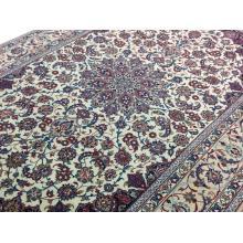198 x 307 Strikingly Beautiful Silked Base Persian Esfahan Rug