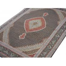 206 x 297 Persian Wool and Silk Base Fish Design Rug