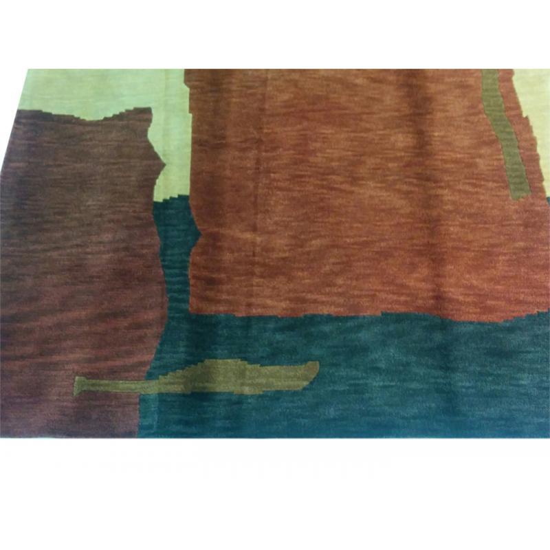 152 X 244 Elegantly Designed Nepal Handmade Wool Rug