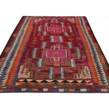 167 x 366 Bold and Beautiful Diamond Kilim Persian Handmade Wool Rug