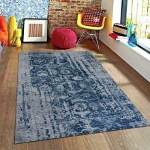 244 X 305 Oriental Handmade Hand-Knotted ERASED FREECIA Rug
