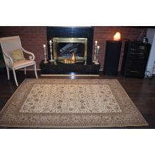 160 X 233 Elegant Traditional Green & Cream All Over Design Rug