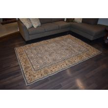 160 X 233 Luxurious Traditional All Over Design Gray & Cream Rug