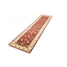 82 X 357 Cream & Red, Choobi Design, Traditional Runner Rug